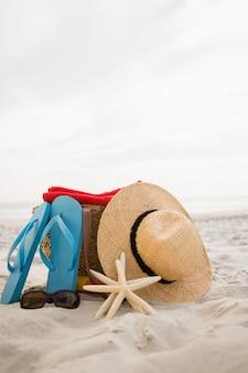 砂の上に保たバッグ、ビーチアクセサリー