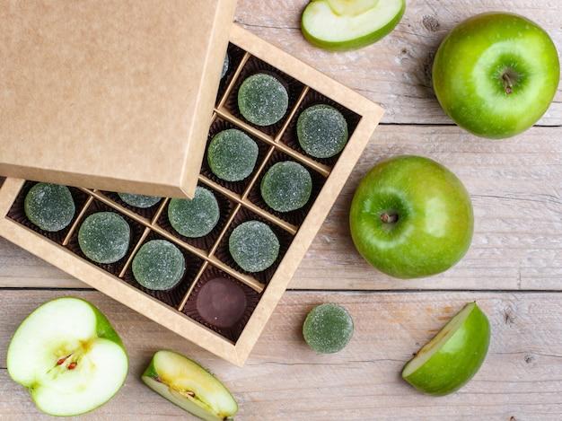青リンゴとリンゴのグミ