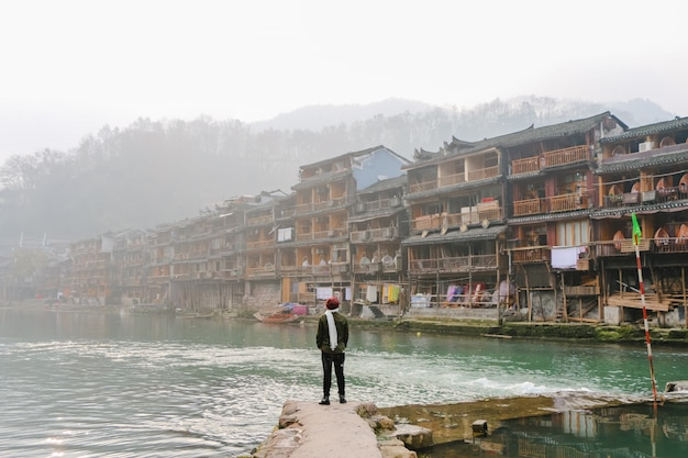 農村地域の観光地ボート