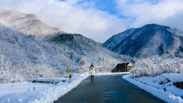 雪のクリスマス青い不思議の国の吹雪