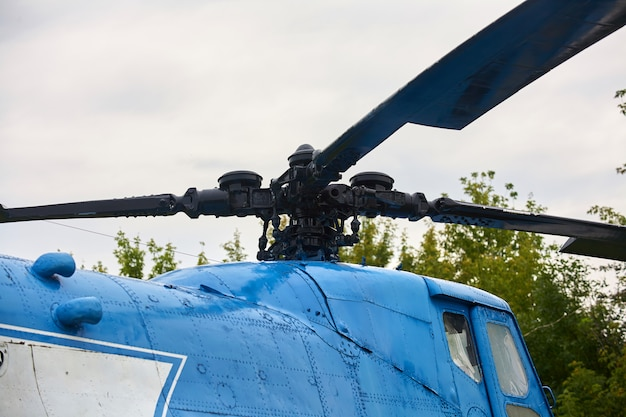ヘリコプターのプロペラ
