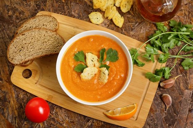レンズ豆のスープはつぶした。