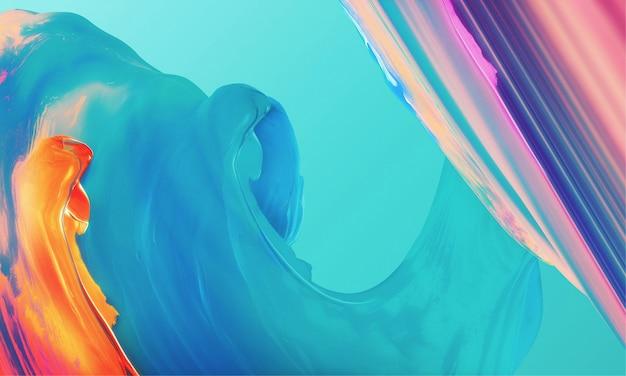 創造的な抽象的な色の油絵の背景