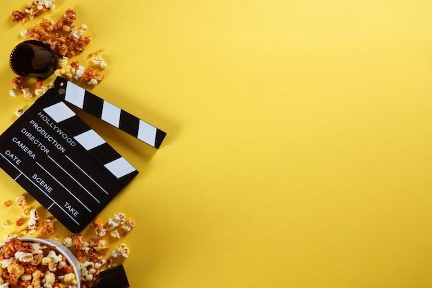 コピースペースを持つ映画クラッパーボード。