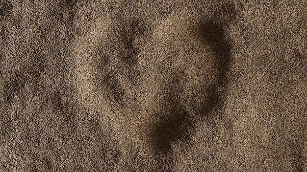 Сердце песочный фон