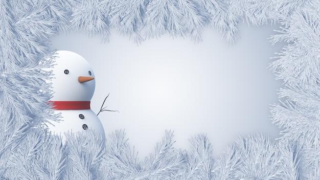 クリスマス雪だるまの背景