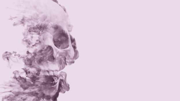 煙の頭蓋骨の背景