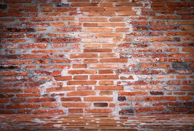 古い空の古いレンガの壁テクスチャ