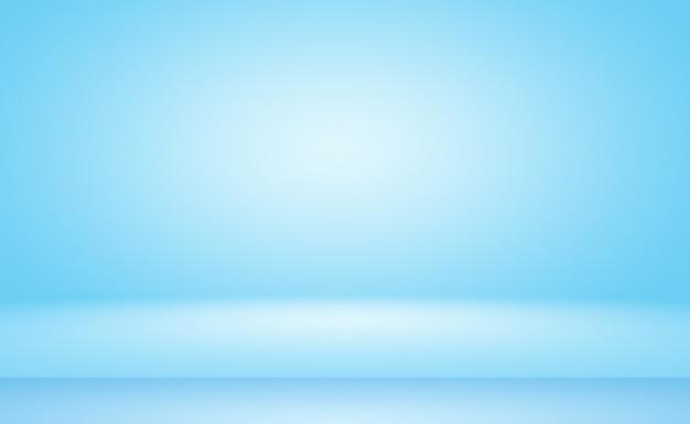 抽象的な高級グラデーションブルーの背景。滑らかなダークブルーと黒のビネット