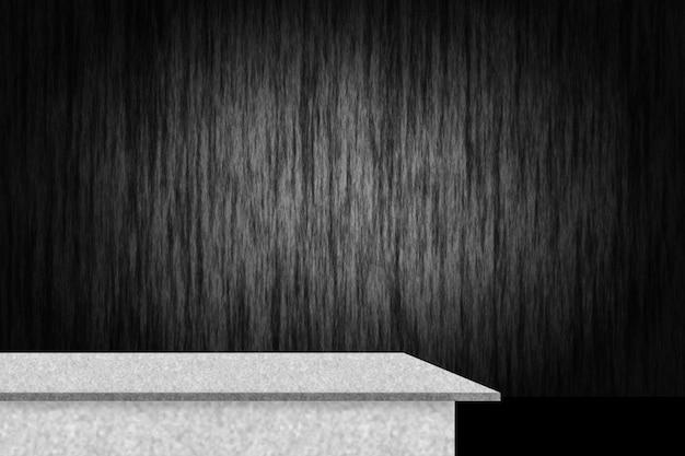 境界黒いビネットの背景と抽象的な贅沢な黒いグラデーションセメント棚とスタジオの背景