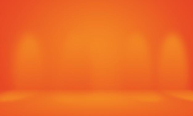 Абстрактный гладкий оранжевый фон дизайн макета, студия, комната, веб-шаблон