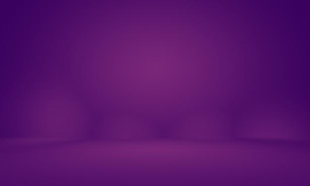 製品の抽象的な空光グラデーション紫スタジオルーム背景。