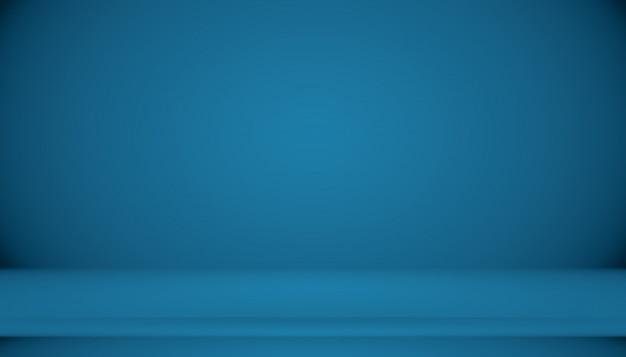 ブルーグラデーションの抽象的な背景の空の部屋