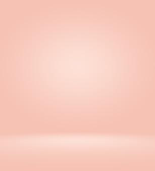 抽象的な空の滑らかな淡いピンクのスタジオルームの背景