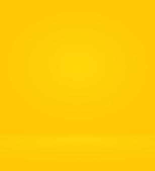 抽象的な高級ゴールド黄色グラデーションスタジオの壁、よく背景として使用