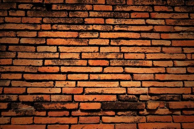 古い赤レンガの壁。グランジの背景