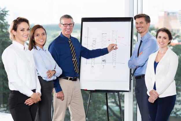 ハッピープレゼンテーションの作成成功するビジネスチーム