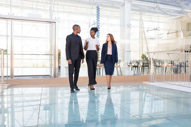 Серьезный афроамериканский менеджер рассказывает инвесторам о проекте
