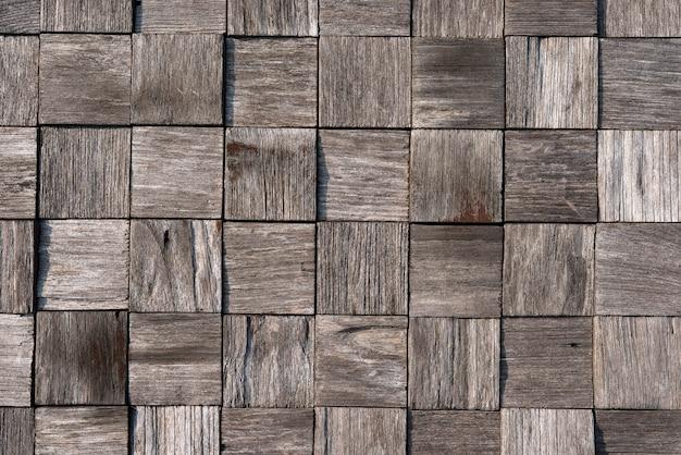 Старый деревянный квадратный узор фона