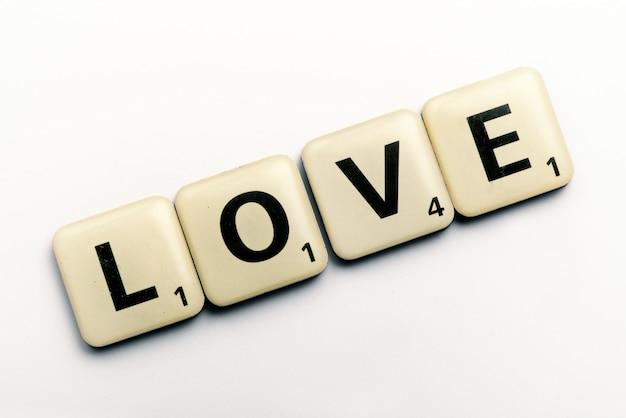 文字ブロックの愛という言葉