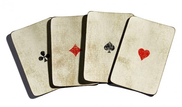 Набор из четырех винтажных тузов