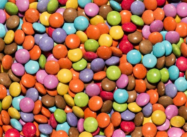Фоновая текстура из ярких конфет