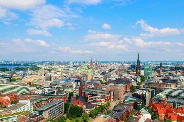 Городской пейзаж гамбурга в германии