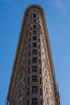 ニューヨークのフラットアイアンビルのファサード