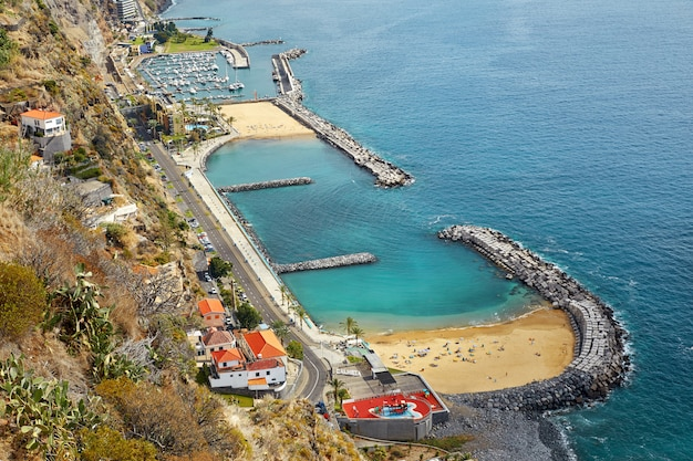 Пляж кальета на мадейре, португалия