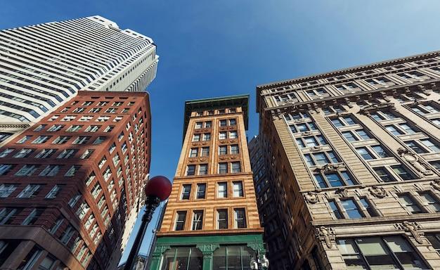 Высотные здания города бостона