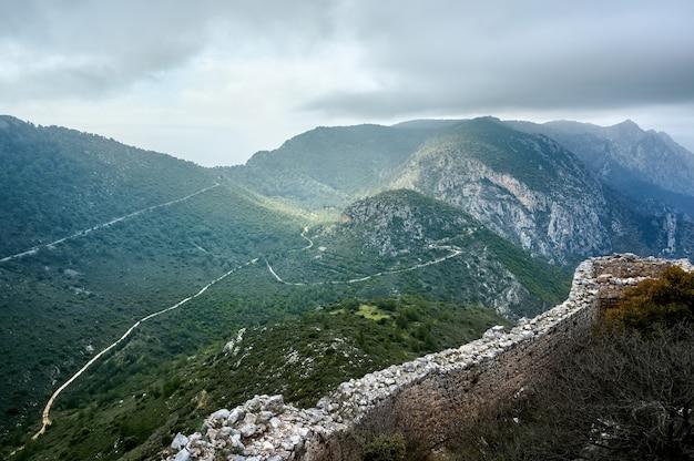 山の空撮風景