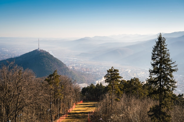 Вид на природу с горы