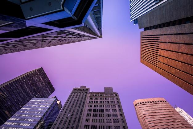 Современные здания в нью-йорке, сша