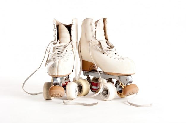 白で隔離ローリンスケート