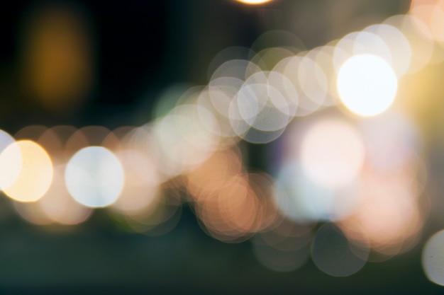 抽象的な夜クリスマスボケライト