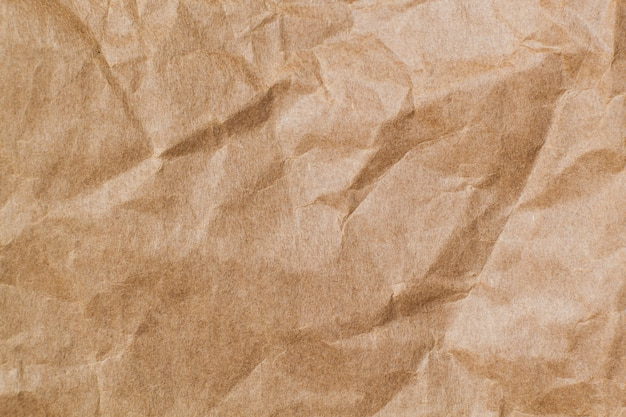 抽象的な茶色のしわくちゃの紙をリサイクル