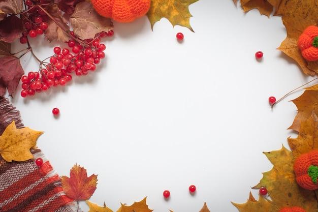 秋のスタイルでテキスト構成を書くための背景