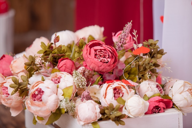 花束の花人工背景、大気