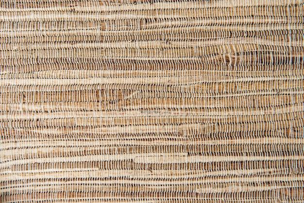 Фон. крупным планом фото плетеной текстуры. вид сверху