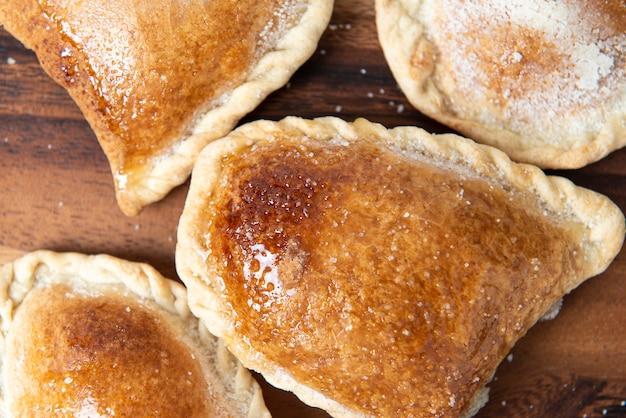 ペルーの伝統的なお菓子:「エンパナーダグロボ」。甘い甘い。