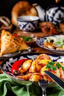 Узбекская жареная картошка