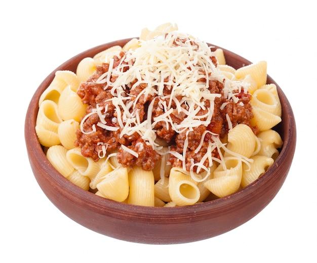 新鮮でおいしいスパゲッティボロネーゼ
