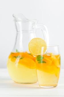 Цитрусовый лимонад, летний напиток.