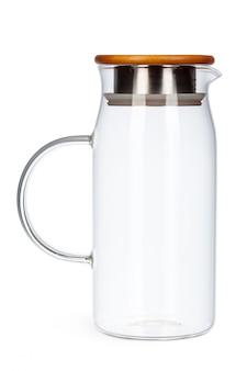 Стеклянный чайник изолированный