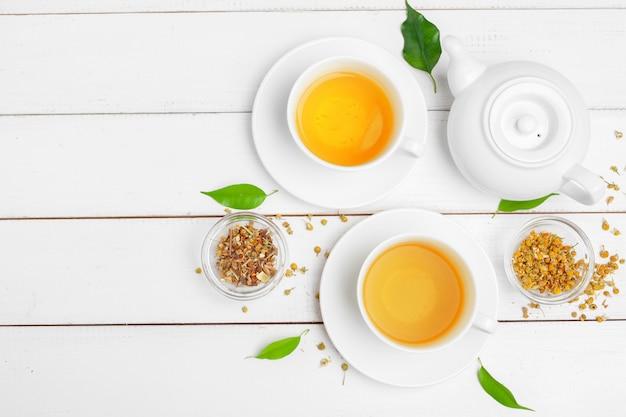 Чайник и чашки чая