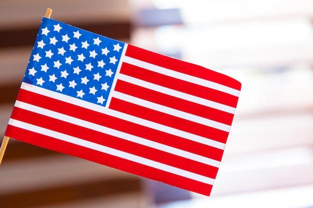 分離されたアメリカの国旗