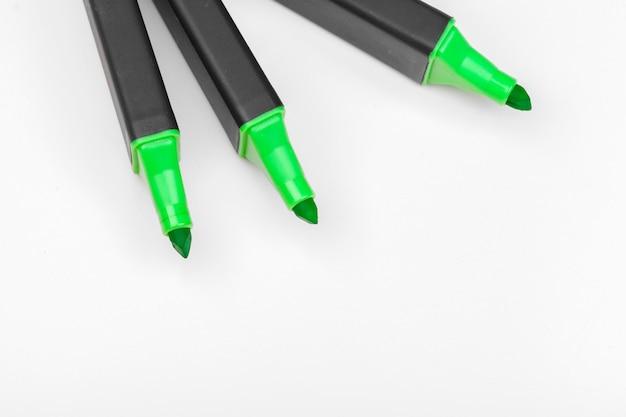 カラーペンをクローズアップ