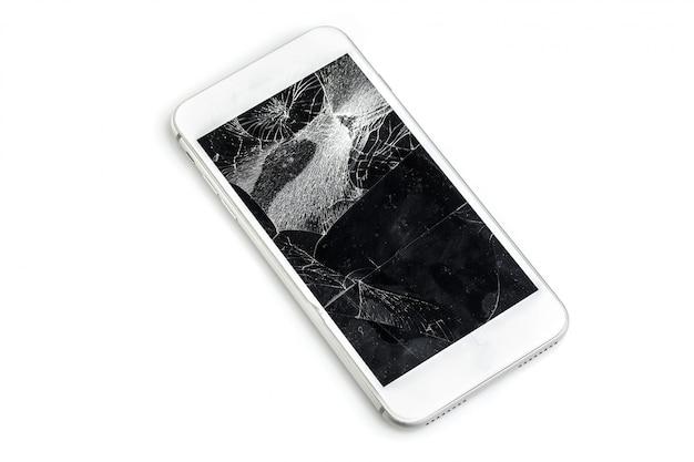 Мобильный телефон с разбитым экраном