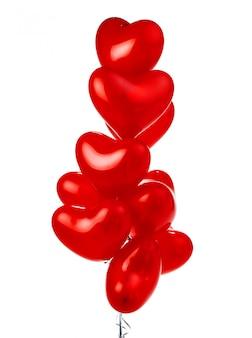Букет из красных сердечных шаров