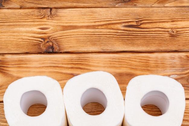 Рулоны туалетной бумаги вид сверху